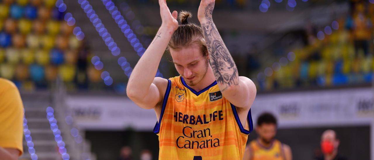 Olek Balcerowski, en su último partido con el Granca.