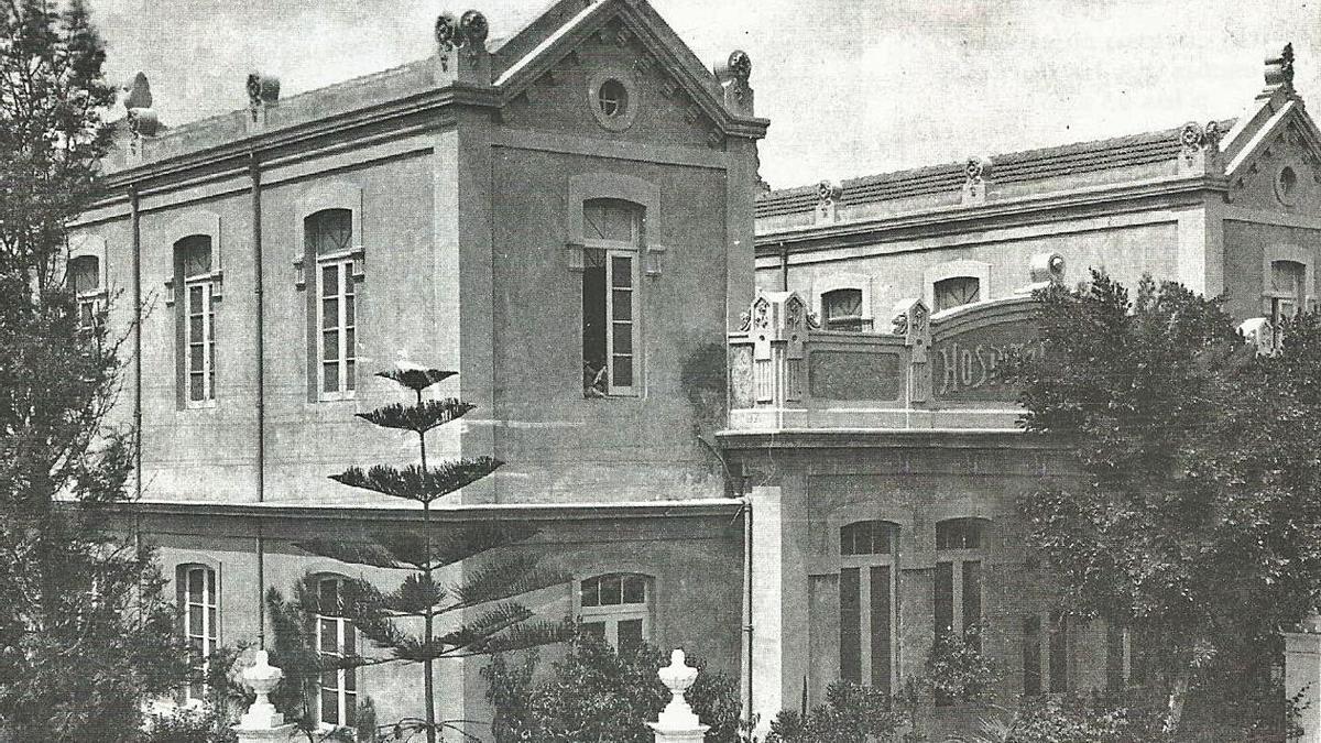 Imagen del Hospitalito de Niños en el año 1932.