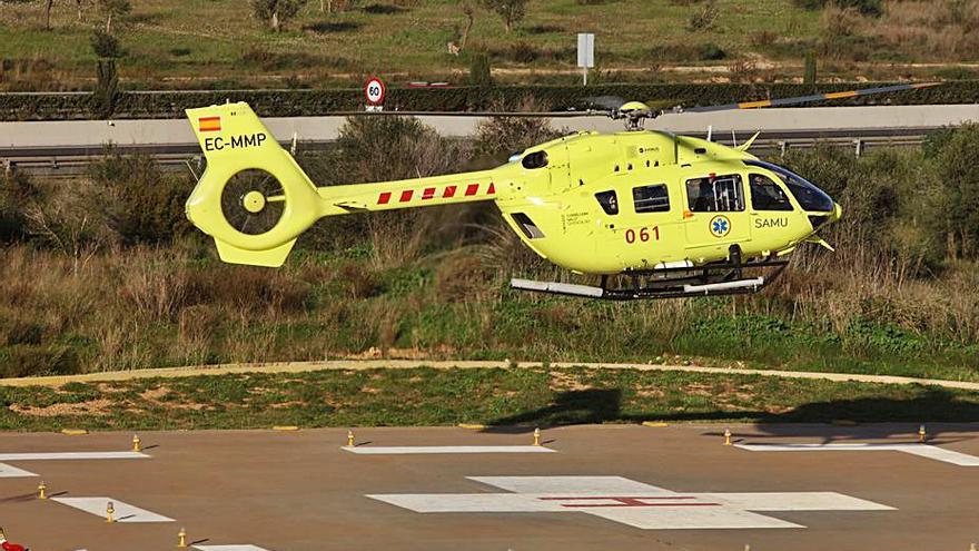 Un joven pierde un pie tras un accidente de moto en Ibiza