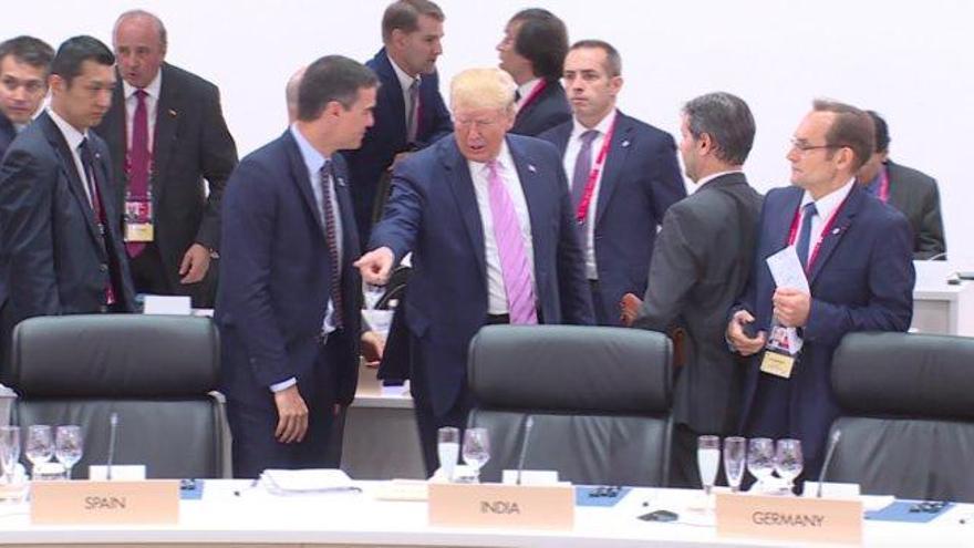 El feo gesto de Trump con Pedro Sánchez en la cumbre del G-20