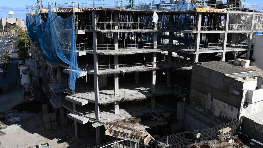 La construcción en Canarias se desploma un 9,8% en el primer trimestre del año