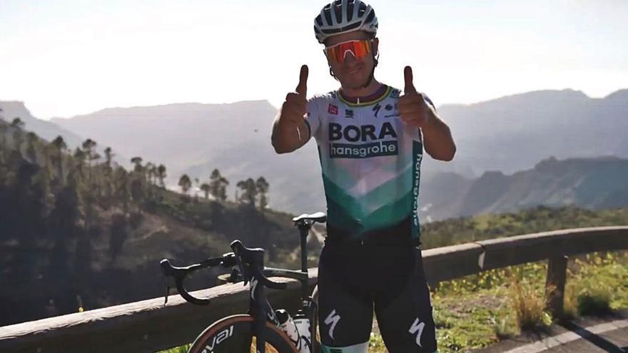 Peter Sagan celebra sus  31 años en Gran Canaria