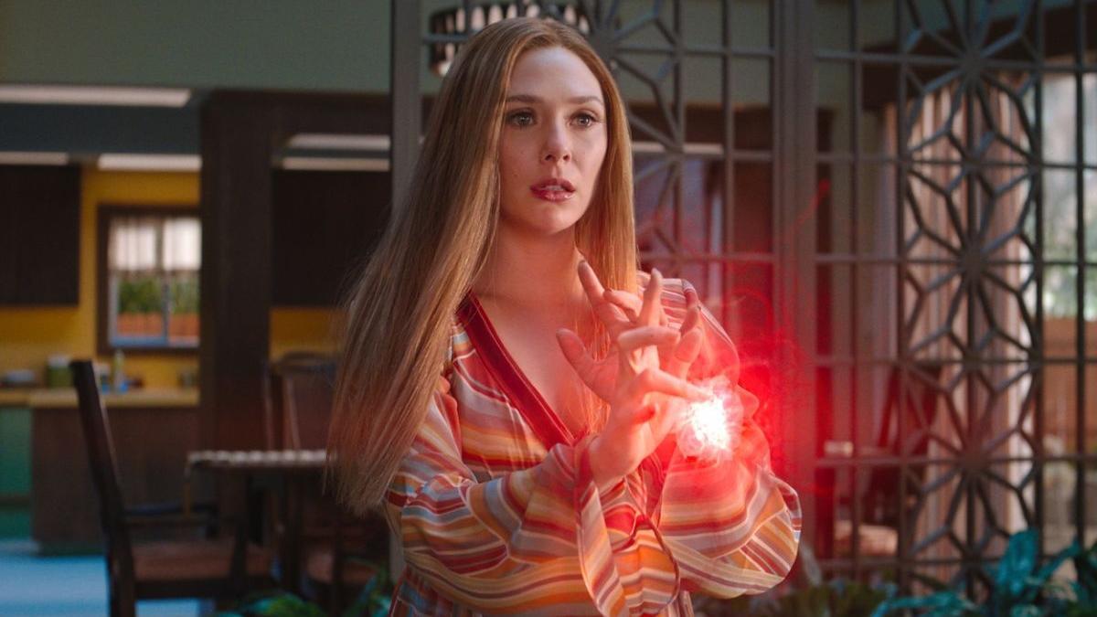 Elizabeth Olsen (Wanda Maximoff) en 'Bruja Escarlata y Visión'.