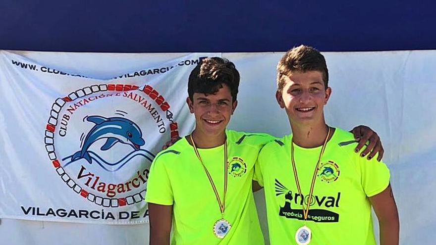 El Club Salvamento Vilagarcía consigue cuatro podios en el Campeonato de España