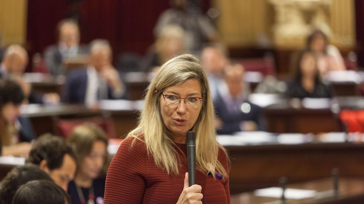 La consellera de Salud, Patricia Gómez, en una imagen de archivo en el Parlament