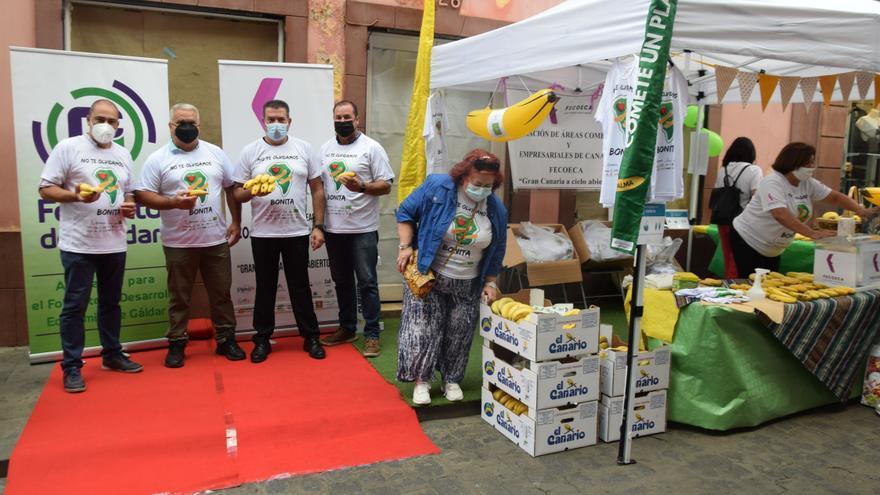 """Gáldar se suma a la campaña """"Cómete un plátano por La Palma"""""""