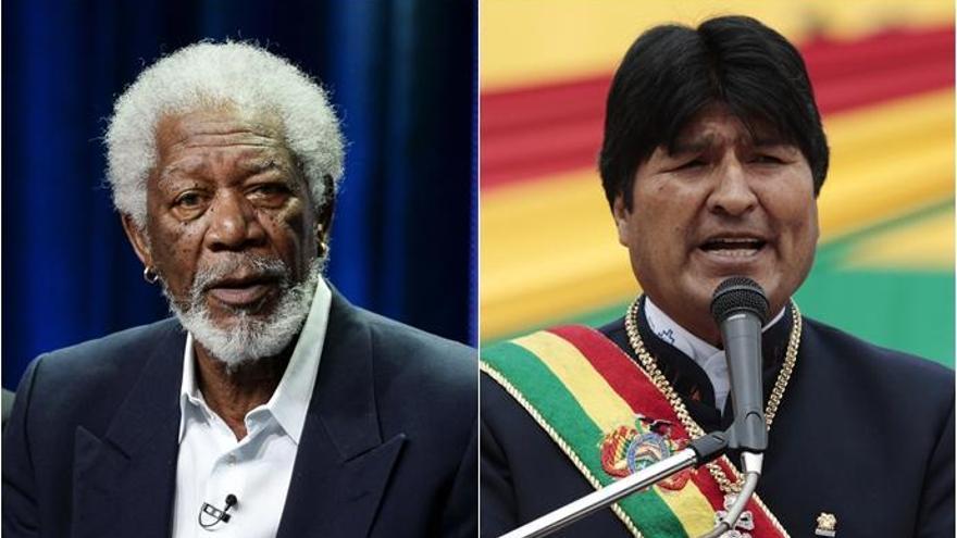 Morgan Freeman entrevista a Evo Morales