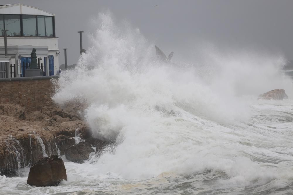 Fort onatge per la llevantada a l'Escala
