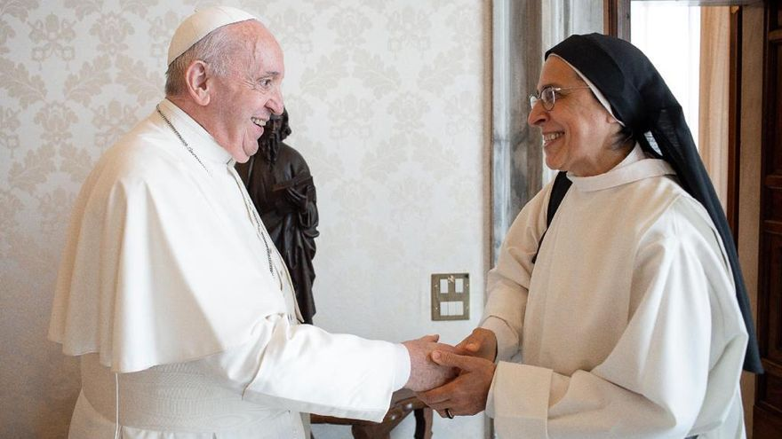 Sor Lucía es reuneix amb el Sant Pare a Roma durant 45 minuts