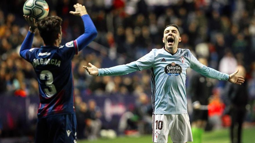 Aspas cierra el 2019 como máximo goleador nacional de Primera