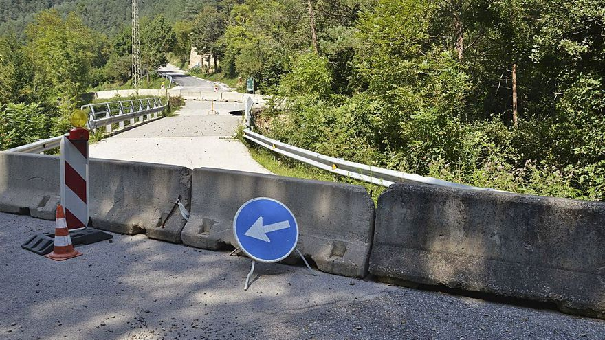 La Diputació arreglarà el pont per arribar a Castell de l'Areny en mig any