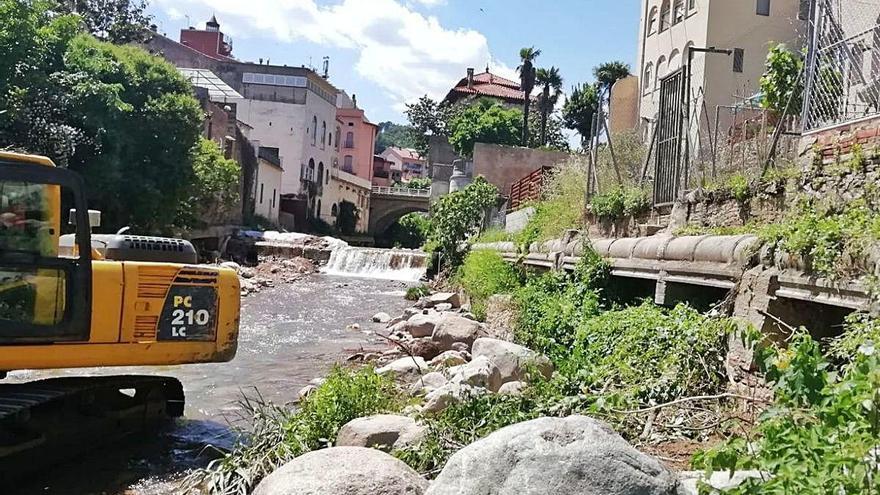 Arrenquen les obres  de millora de la xarxa  de sanejament d'Arbúcies