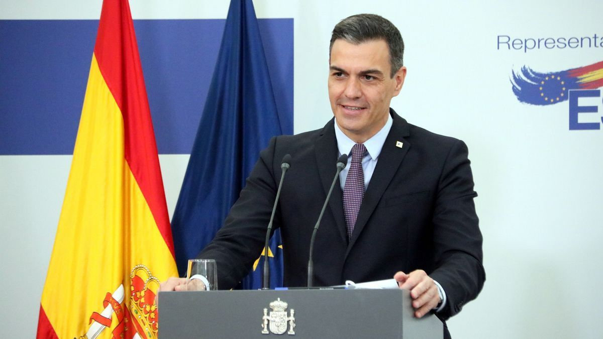 El president del govern espanyol, Pedro Sánchez, durant una roda de premsa a Brussel·les després de la cimera europea