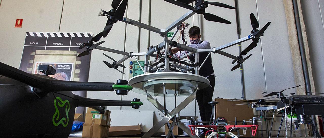 Empresa de drones ubicada en las instalaciones de Distrito Digital, en Alicante.