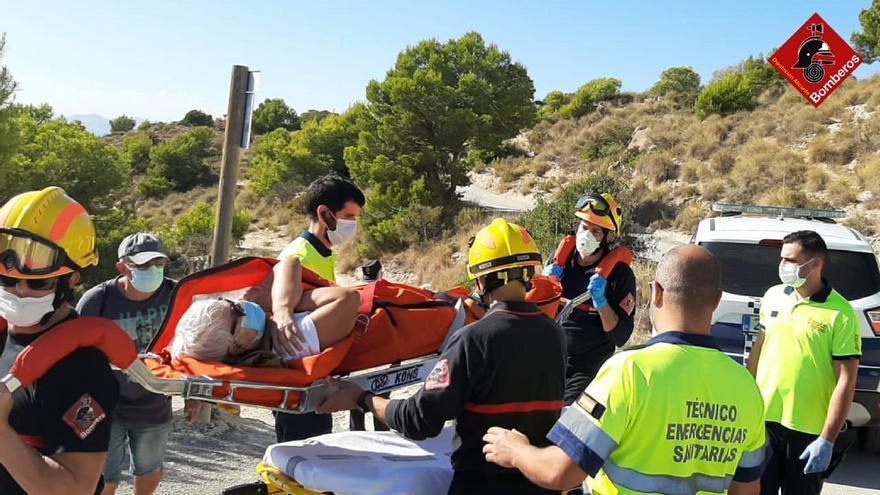 Bomberos rescatan a una senderista en el Racó del Conill en La Vila Joiosa