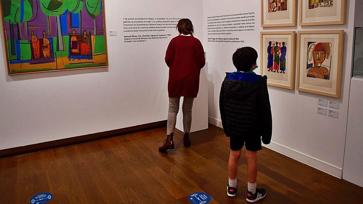 Apertura de la exposición en la Fundación Seoane.  | // CARLOS PARDELLAS
