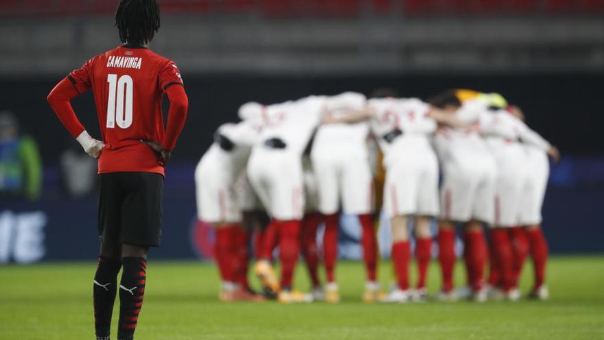 El Sevilla espera rival en octavos tras golear al Rennes