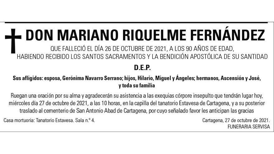 D. Mariano Riquelme Fernández