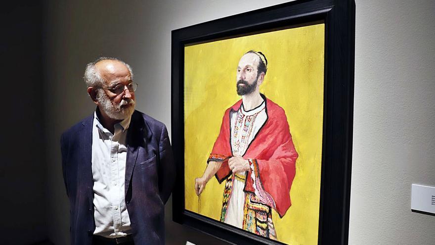 Quintero se imagina la cara de Ibn Gabirol en el Centro Cultural Unicaja