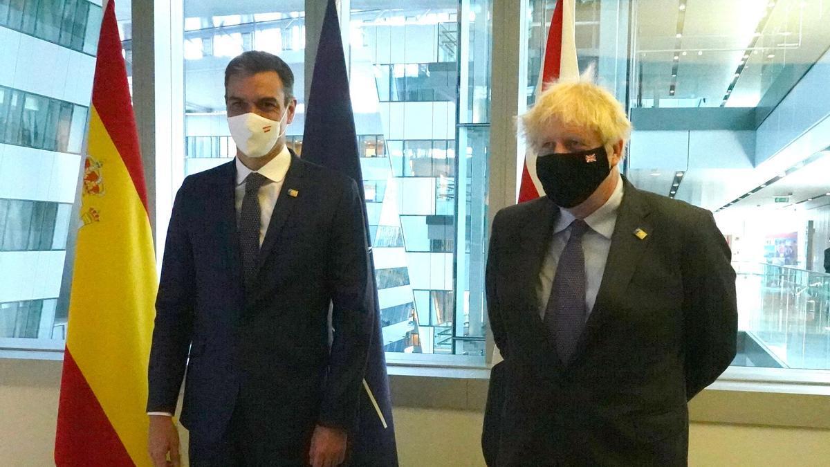 El presidente del Gobierno, Pedro Sánchez, se reúne con el primer ministro de Reino Unido, Boris Johnson.