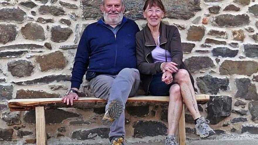 El francés Bernard Chennot y su esposa, la alistana María Queipo, en Figueruela de Arriba.