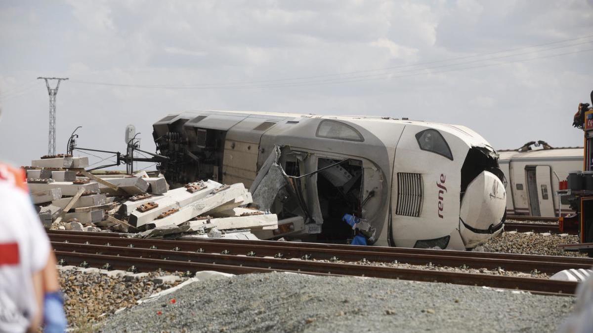 Grave accidente de tren en Zamora a su paso por La Hiniesta.