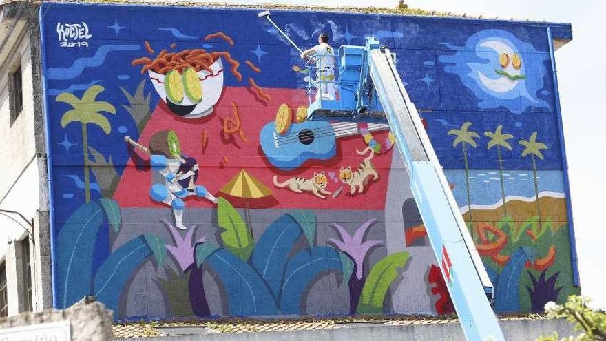 El museo al aire libre de Vigo roza las 90 pinturas