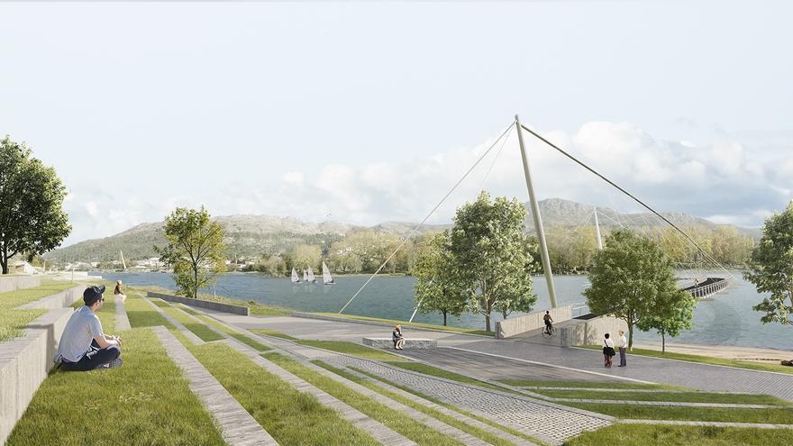 Propuesta ganadora del puente que fusionará el gran parque de ocio entre Galicia y Portugal