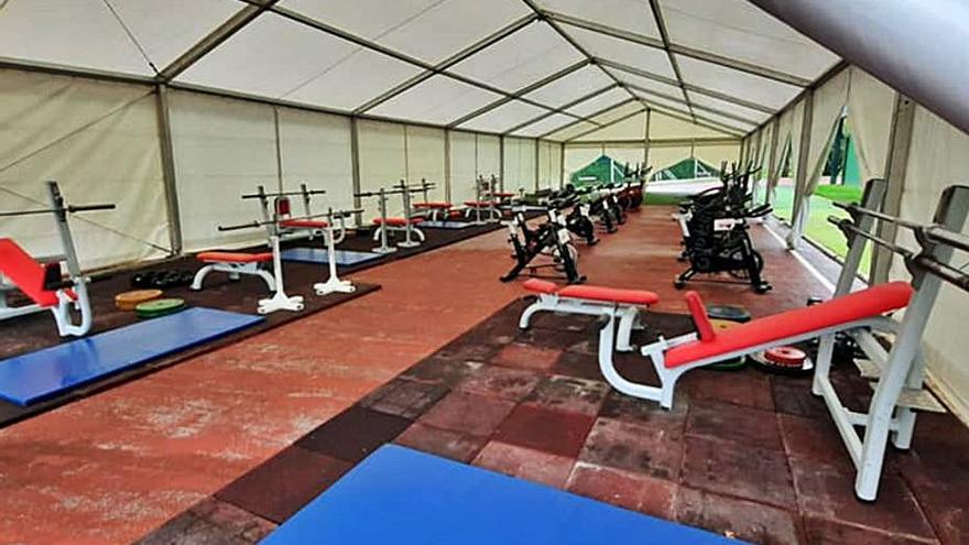 El Grupo habilita en una carpa un nuevo gimnasio para uso de 250 personas al día
