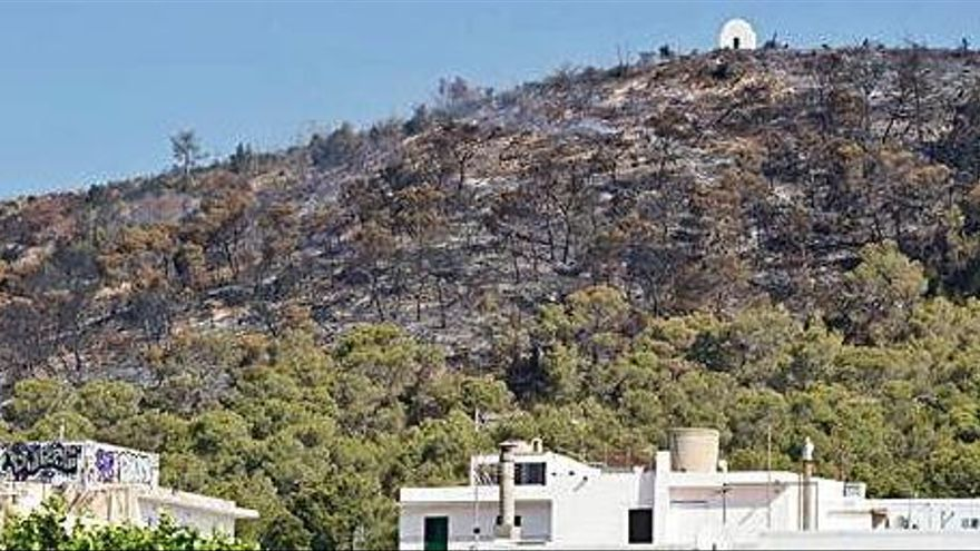 Dos personas intentan provocar un incendio en Sa Talaia