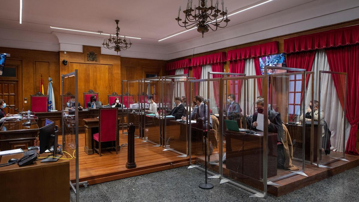 Sesión del juicio a la Zamburiña.