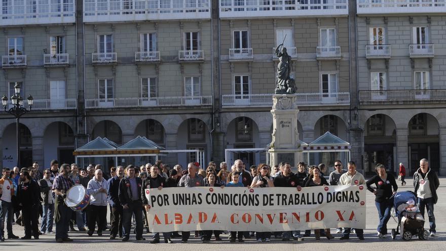 Los trabajadores de Nostián convocan concentraciones en María Pita para el 31 de marzo y el 8 de abril