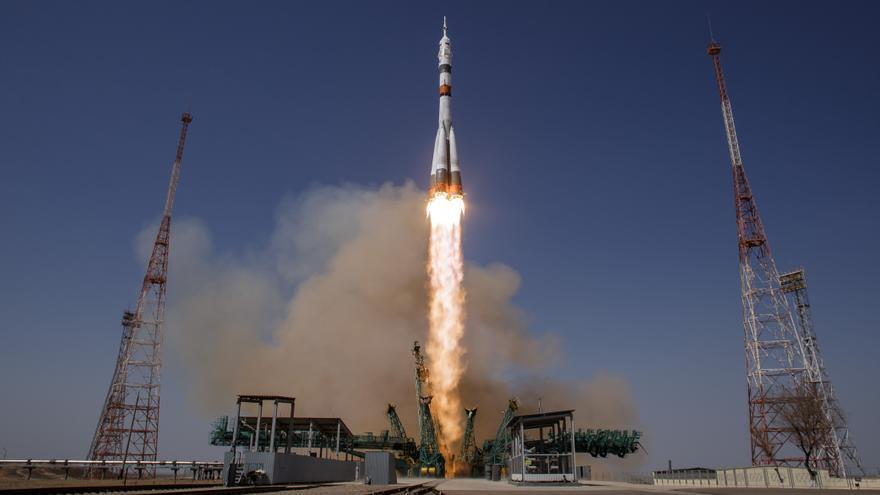 La Soyuz MS-18 'Y.A.Gagarin' despega rumbo a la Estación Espacial Internacional