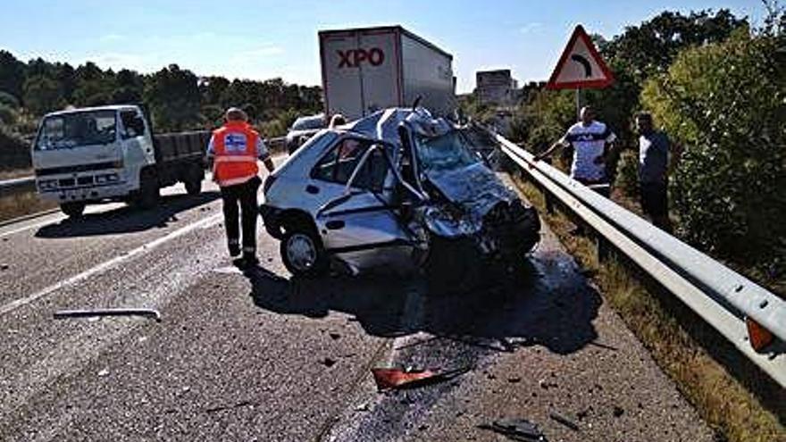 Accidente mortal en Fornillos de Aliste en agosto pasado.