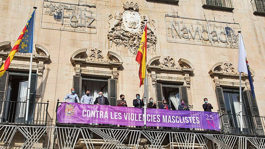 Actos del 25-N en Alicante sin Vox