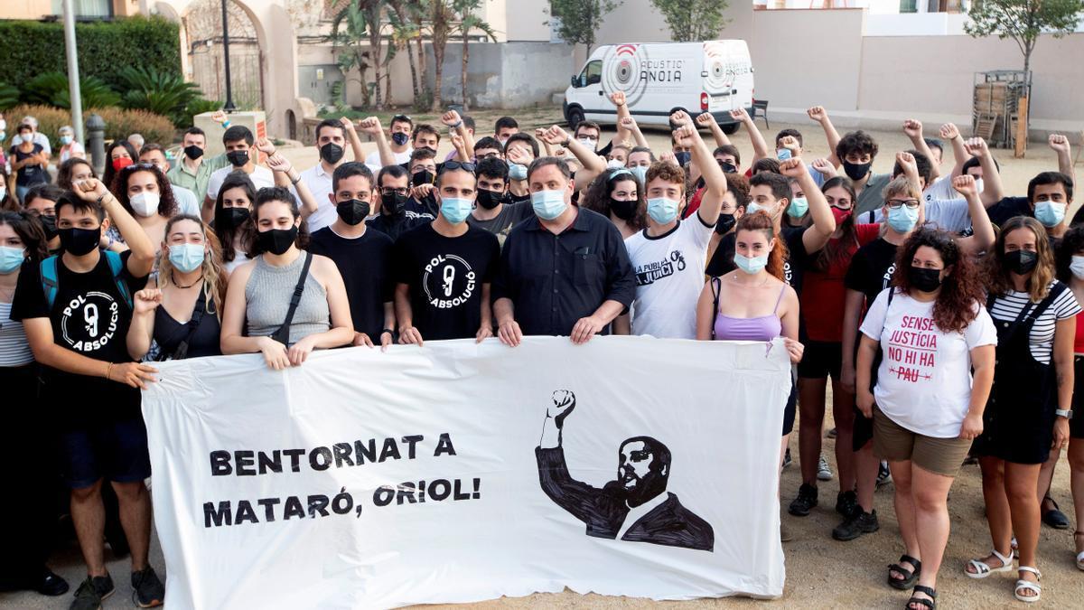 Oriol Junqueras participa en un acto organizado por Jovent Republicà.