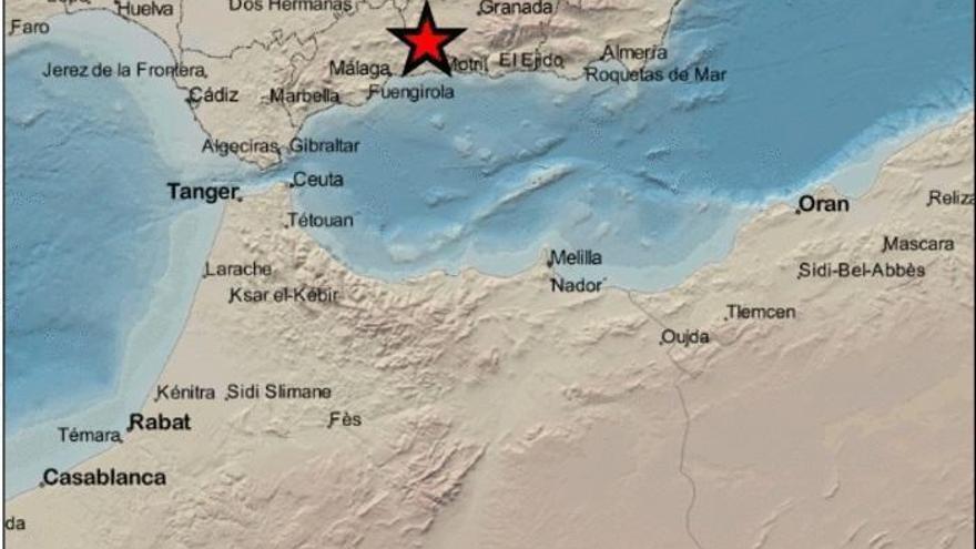 Un terremoto en Zafarraya se deja sentir en Málaga