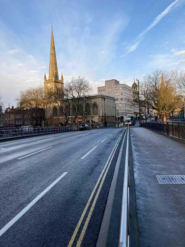 Calles de Bristol vacías, este 30 de diciembre