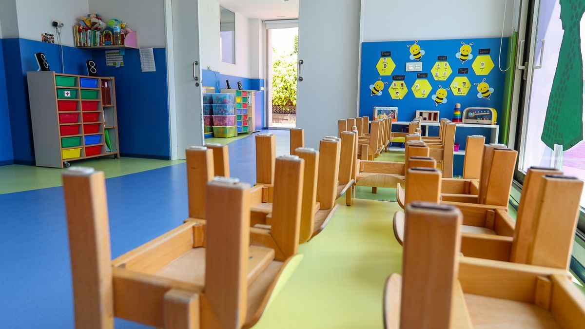 Un aula de Infantil de un colegio de la provincia.