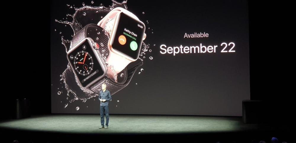 El Apple Watch Series 3 estará disponible el 22 de septiembre, pero no en España. Habrá que esperar un poco más.