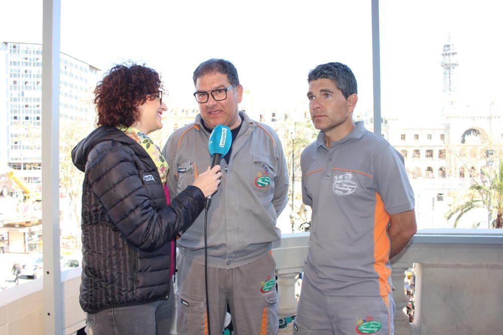 Hermanos Ferrández, con Pepa Gómez
