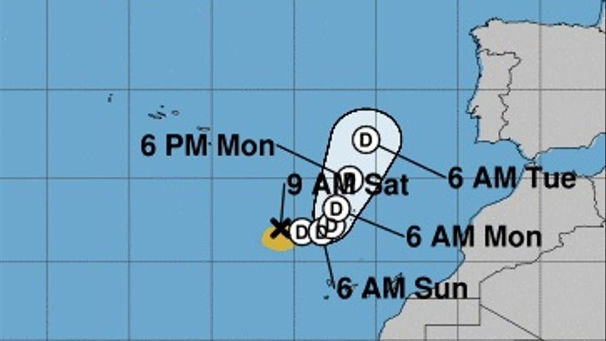 El ciclón tropical 'Theta' se debilita antes de su llegada a Canarias