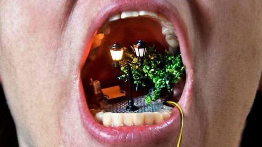 Arte tridimensional en la boca