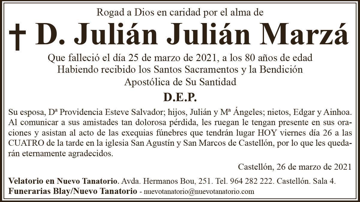 D. Julián Julián Marzá
