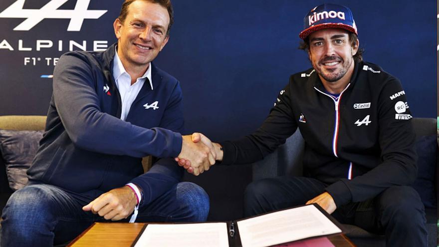 Alonso y Alpine, de la mano