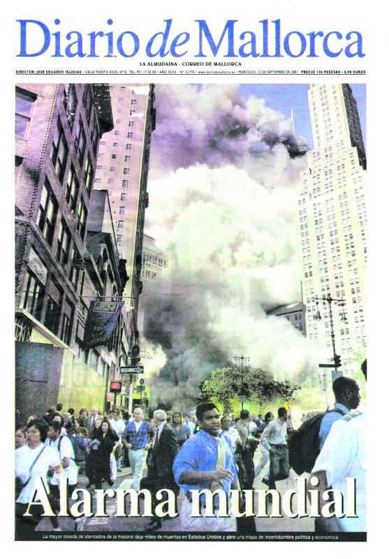 Portada de Diario de Mallorca del 12 de septiembre de 2001.