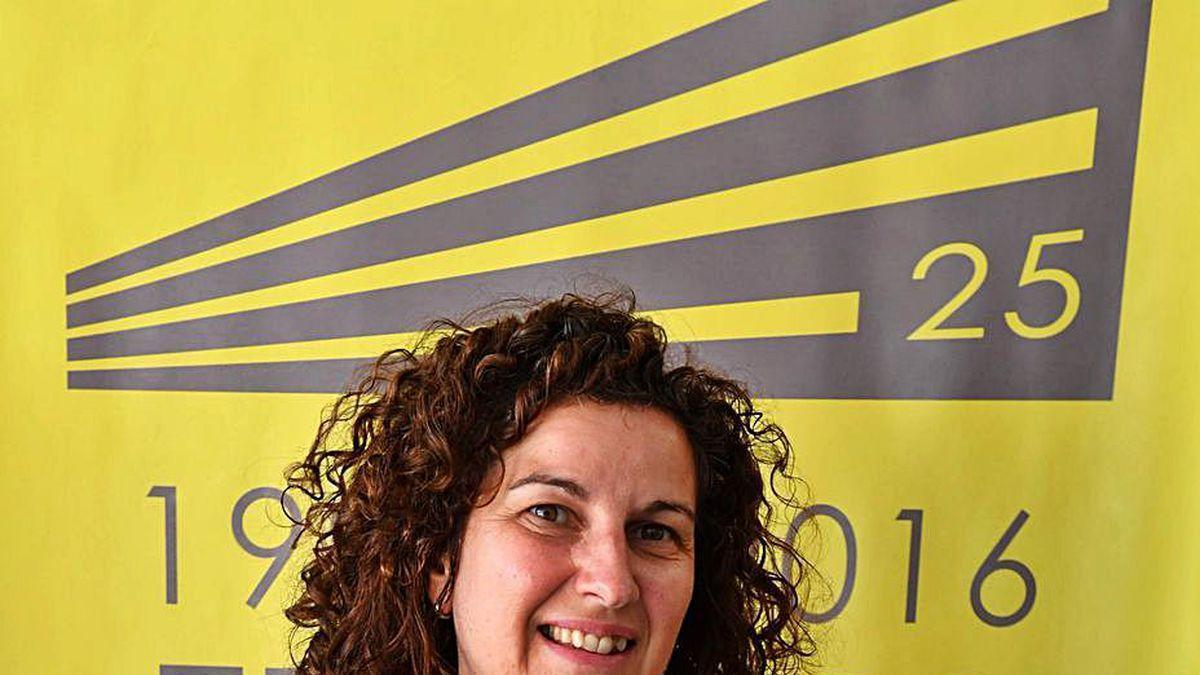La catedrática Belén González, en la Escuela de Caminos.
