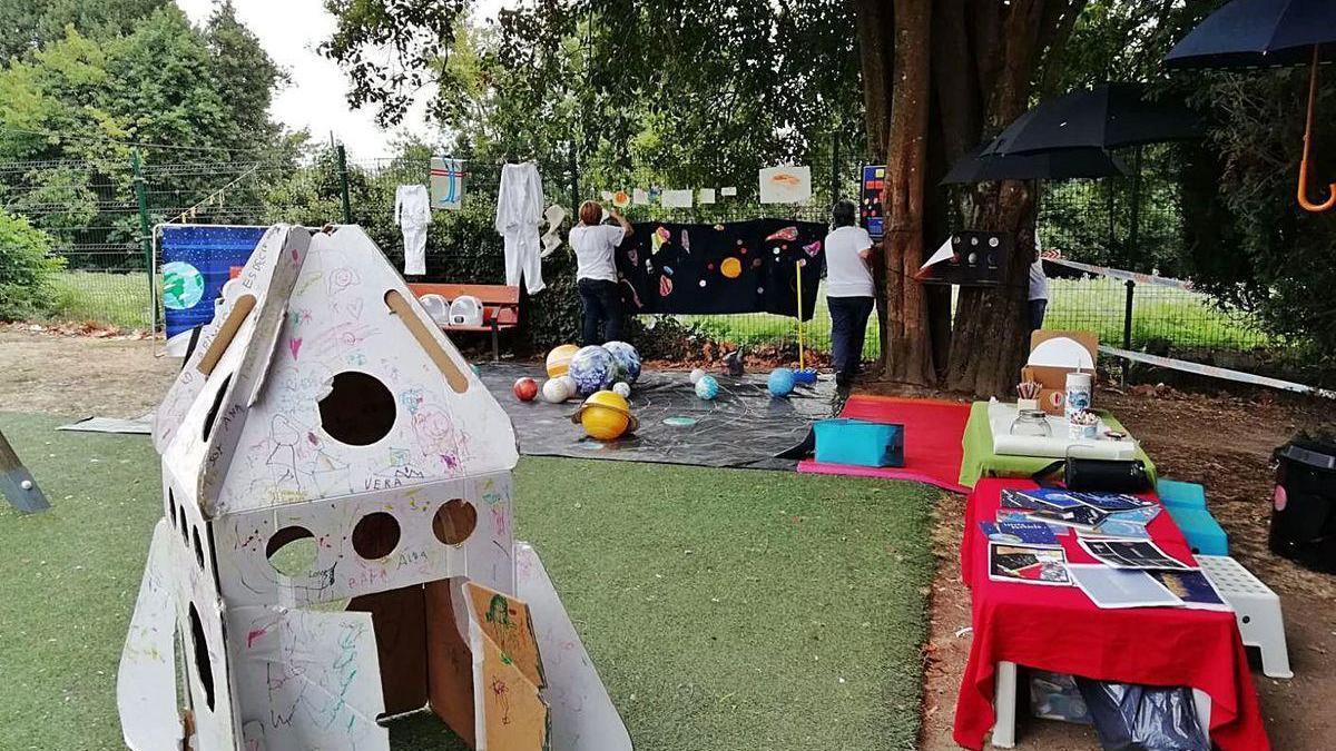 Proyecto de astronomía de una escuela infantil, en la Open Science, en 2018.