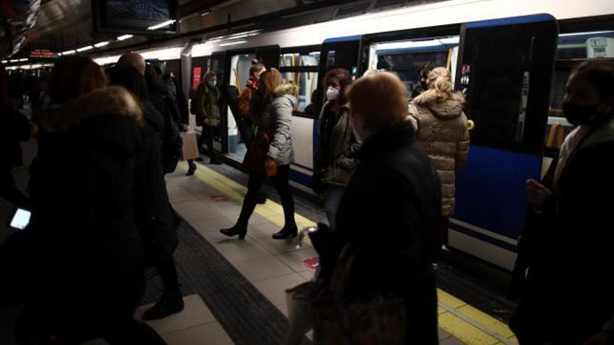 Rescate in extremis en el metro de Madrid