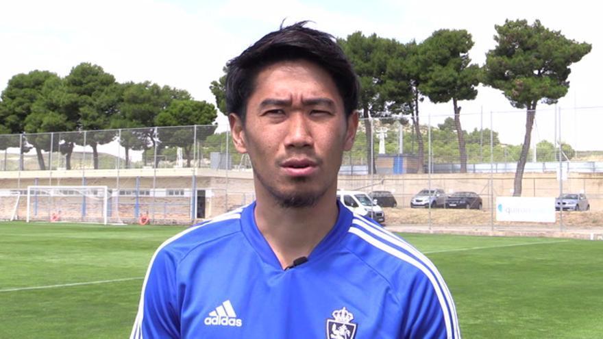 Primeras declaraciones en castellano del futbolista del Real Zaragoza Kagawa